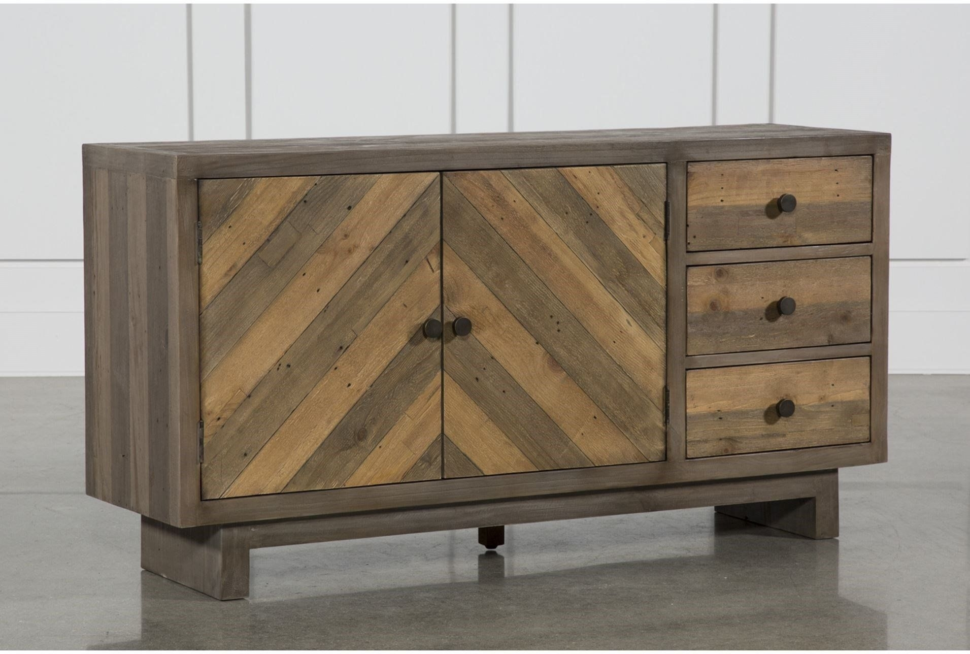 Aged Pine 3-Drawer/2-Door Sideboard | Christiansen | Pinterest intended for Aged Mirrored 2 Door Sideboards (Image 1 of 30)