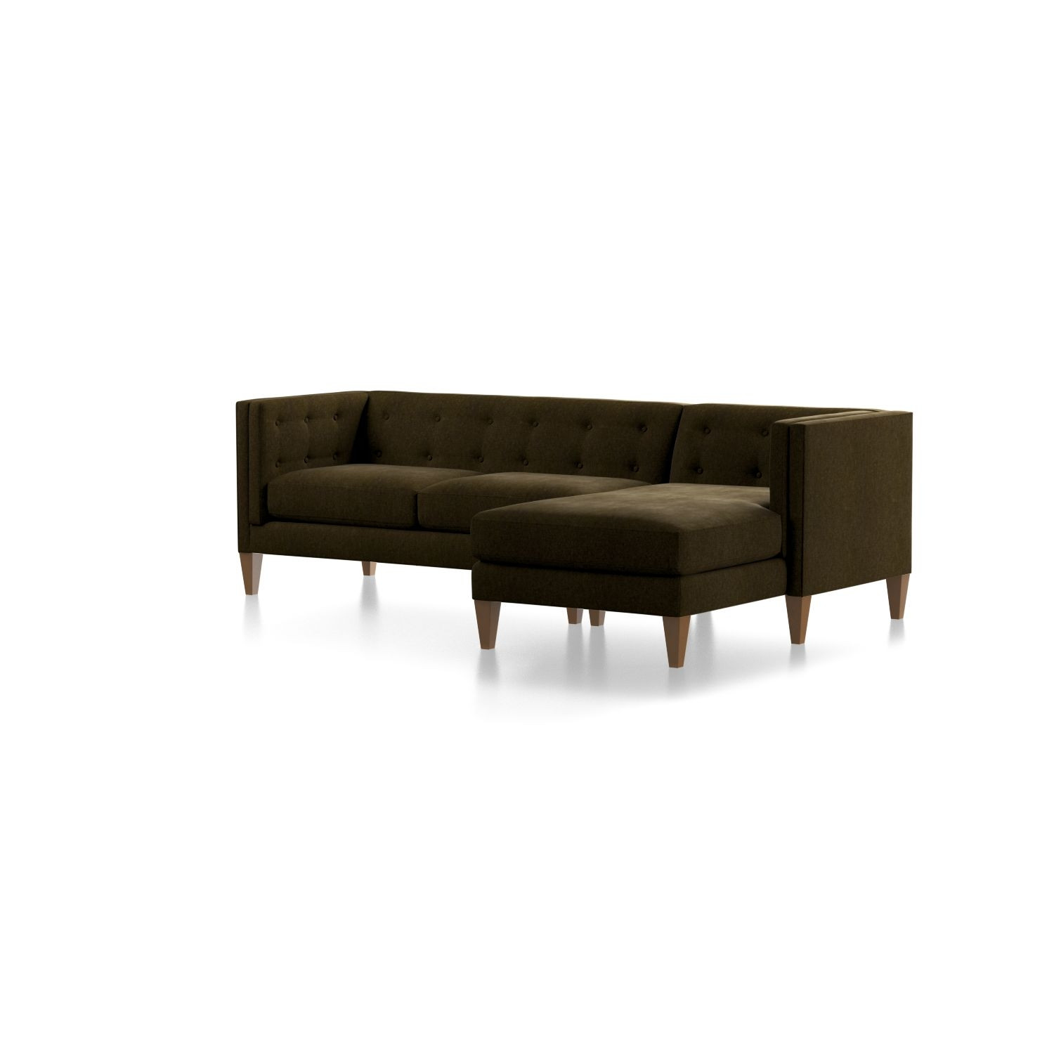 Aidan Green Sectional Sofa With Chaise + Reviews | Crate And Barrel pertaining to Aidan 4 Piece Sectionals (Image 3 of 30)