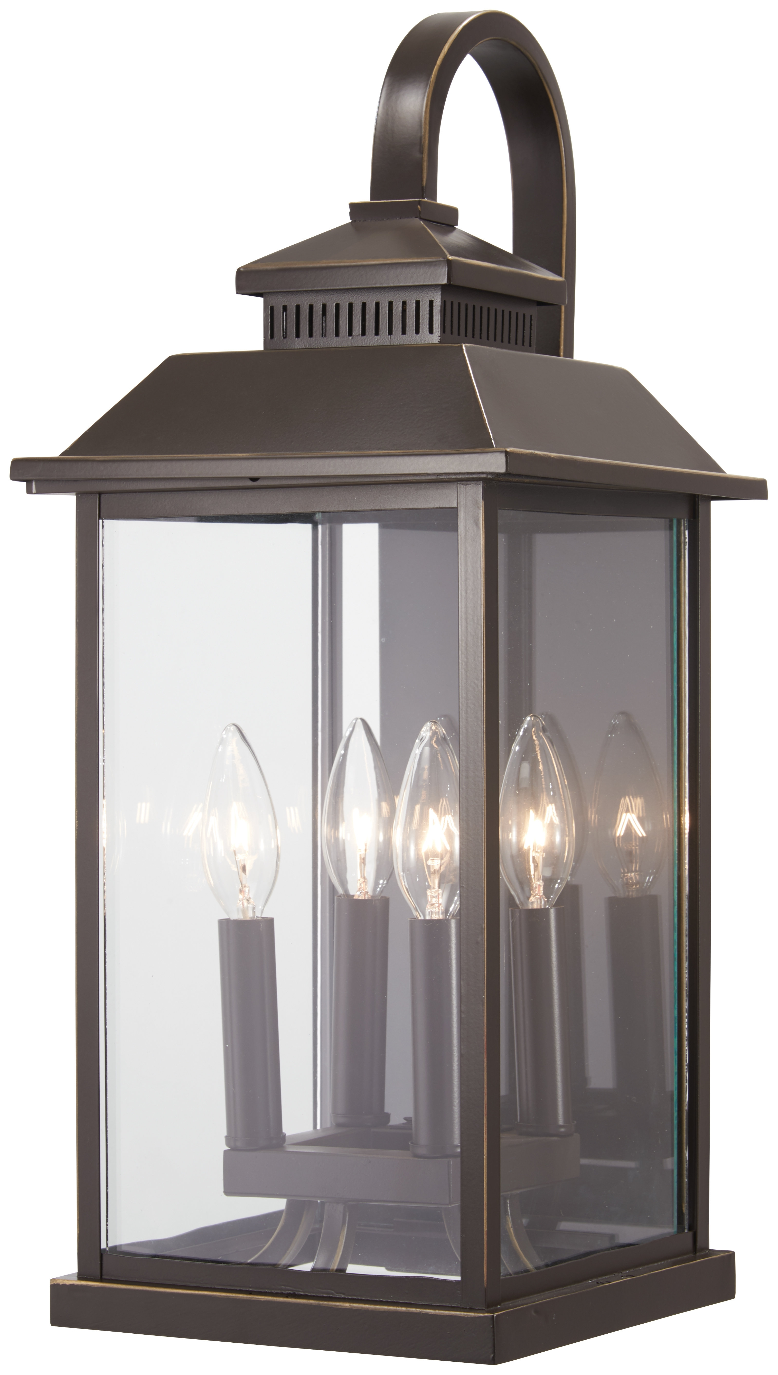 Alcott Hill Helms 4-Light Outdoor Wall Lantern | Wayfair pertaining to Helms Sideboards (Image 5 of 30)