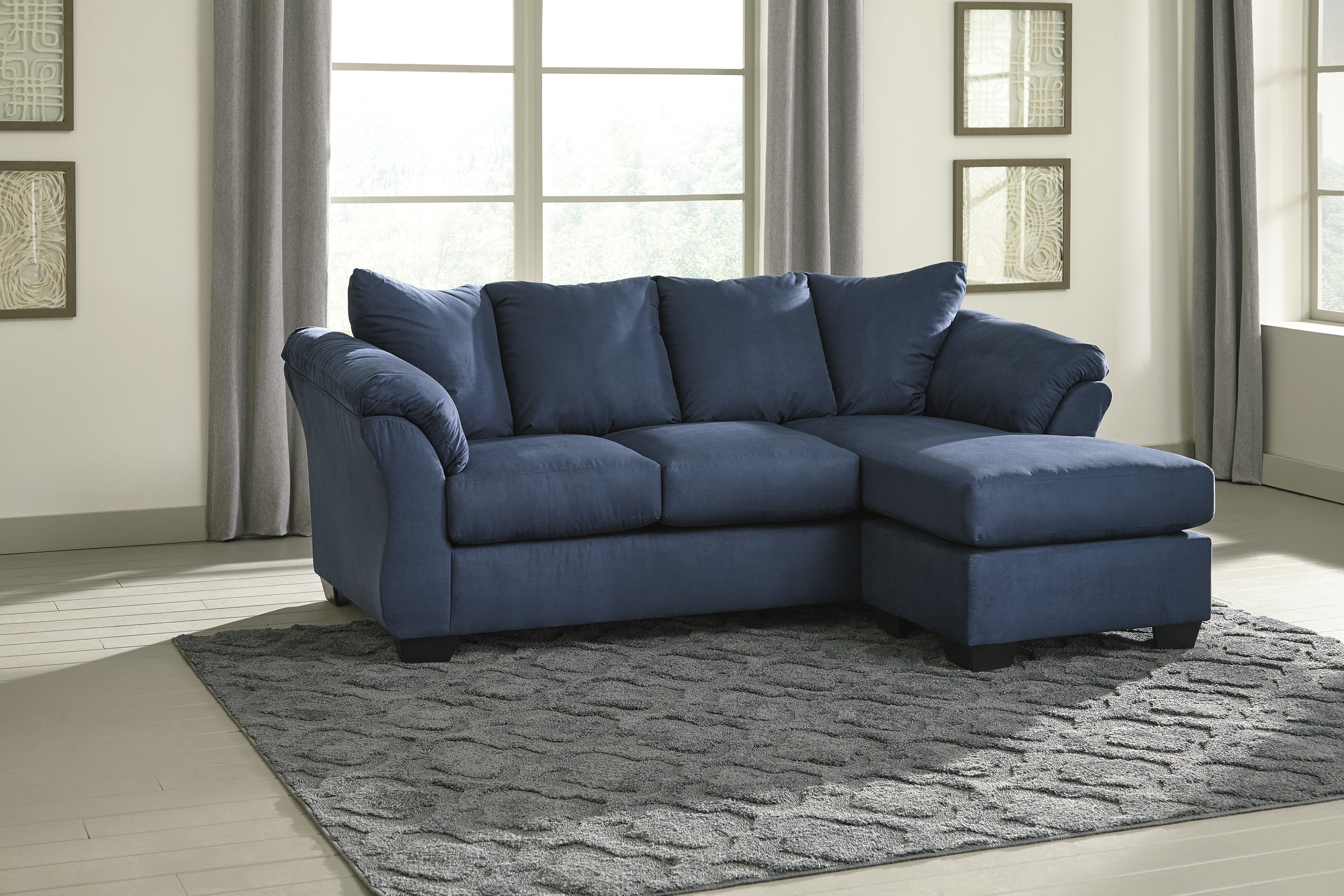 Alcott Hill Sagamore Reversible Sectional & Reviews | Wayfair throughout Lucy Grey 2 Piece Sectionals With Raf Chaise (Image 2 of 30)