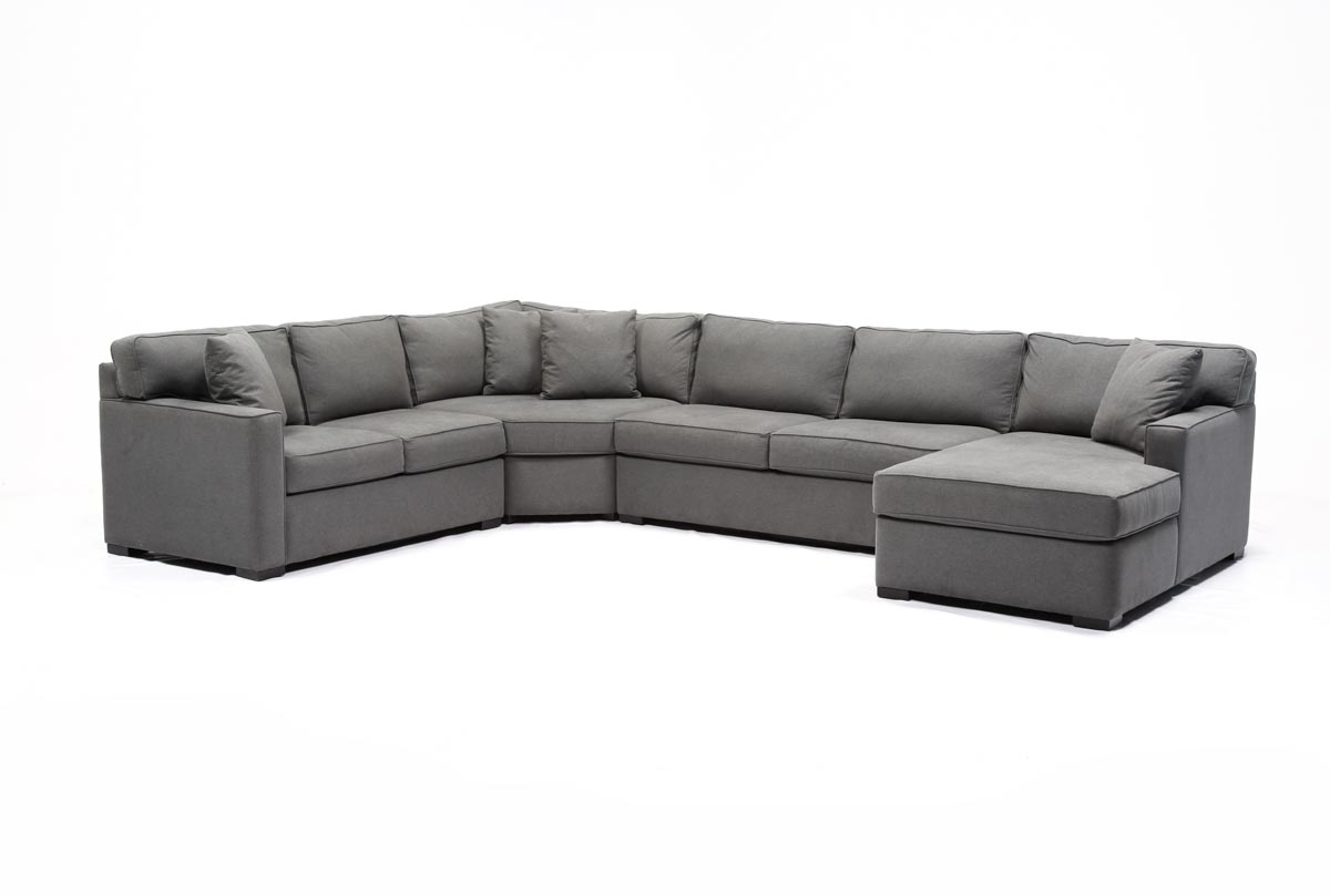 Alder 4 Piece Sectional | Living Spaces for Aidan 4 Piece Sectionals (Image 8 of 30)