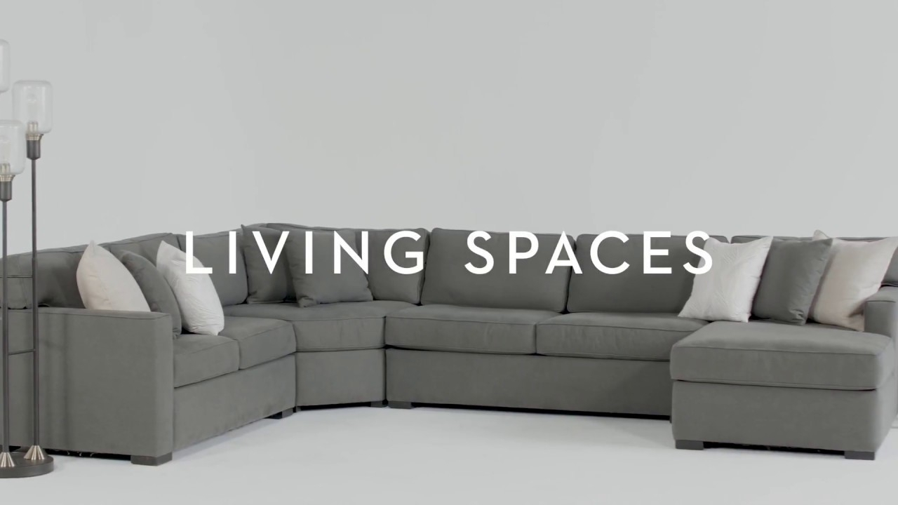 Alder 4 Piece Sectional | Living Spaces - Youtube with regard to Alder 4 Piece Sectionals (Image 7 of 30)