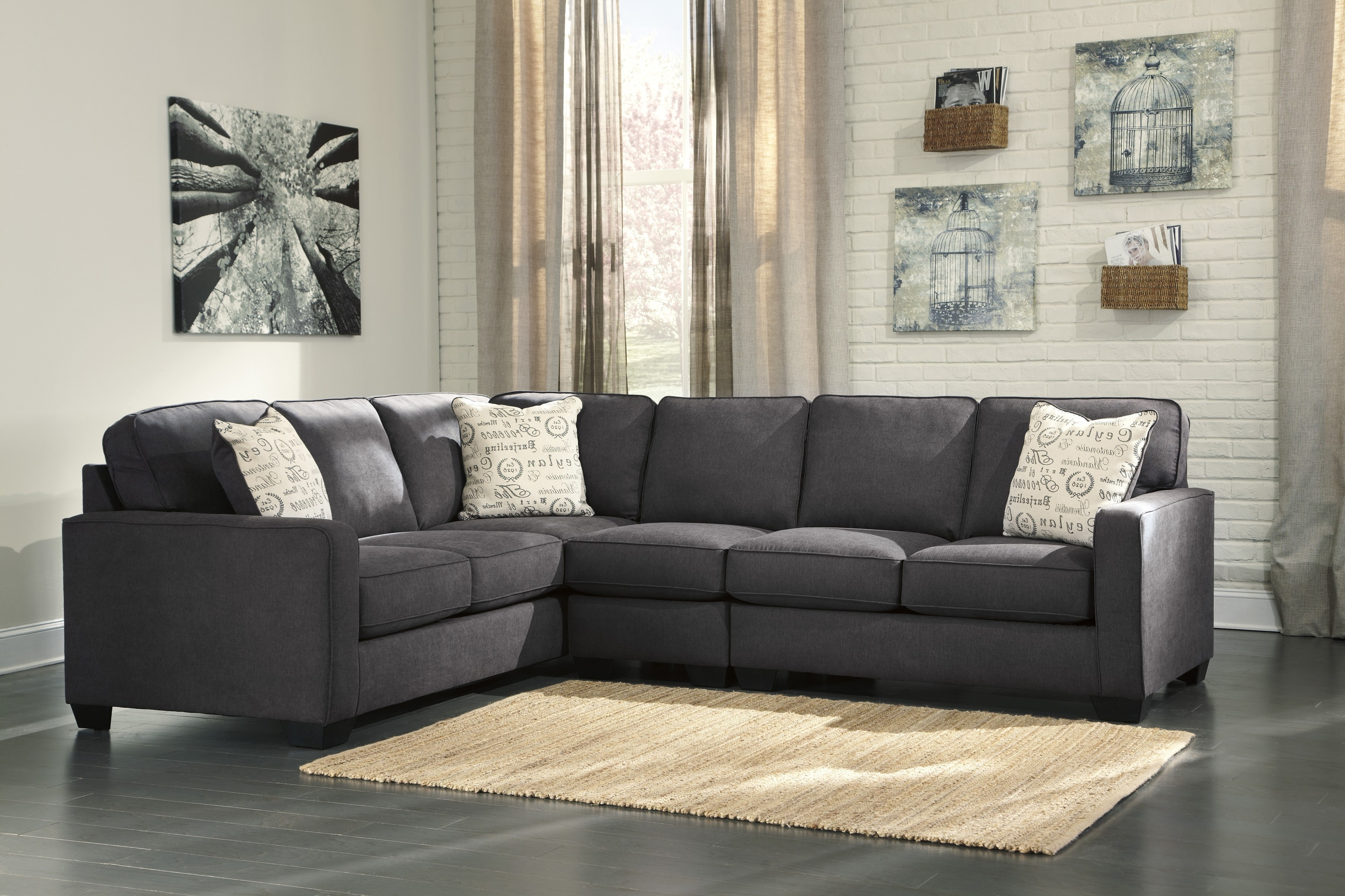 Alenya Charcoal 3-Piece Sectional Sofa For $770.00 - Furnitureusa throughout Kristen Silver Grey 6 Piece Power Reclining Sectionals (Image 2 of 30)
