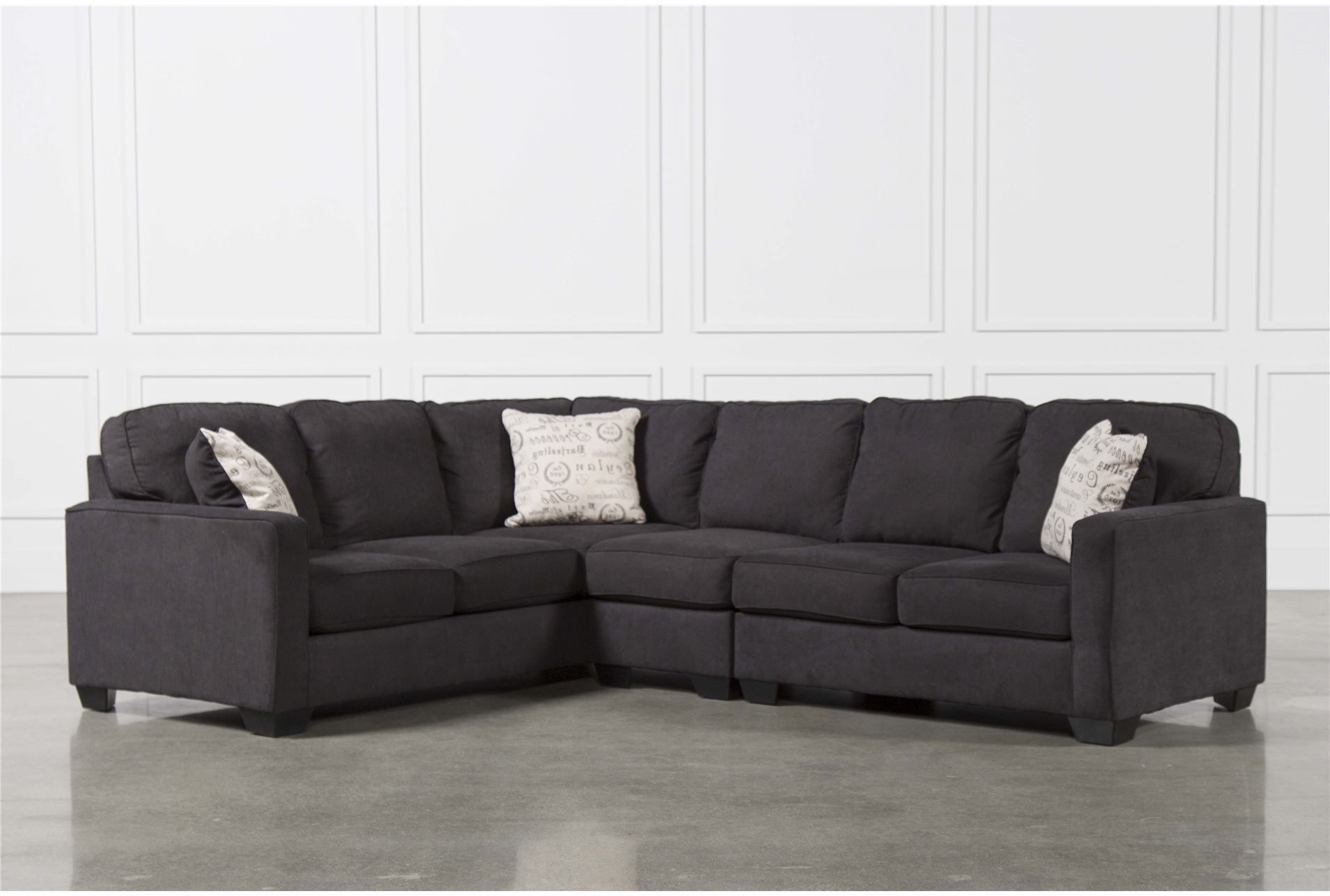 Alenya Charcoal 3 Piece Sectional W/raf Loveseat - Signature | New within Glamour Ii 3 Piece Sectionals (Image 2 of 30)