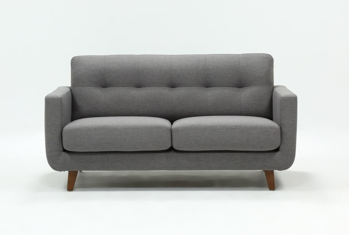 Allie Dark Grey Twin Plus Sleeper Sofa | Living Spaces intended for Mcdade Graphite 2 Piece Sectionals With Raf Chaise (Image 1 of 30)
