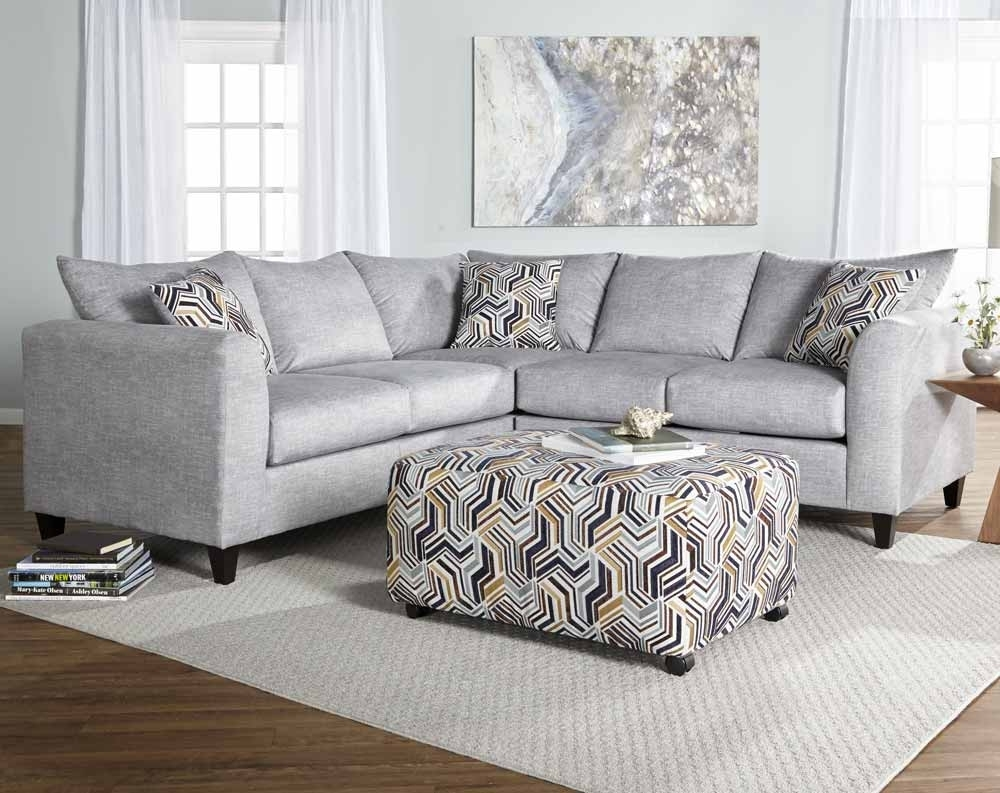 Alton Silver Gray 2 Piece Sectional Sofa | American Freight throughout Norfolk Grey 3 Piece Sectionals With Raf Chaise (Image 1 of 30)