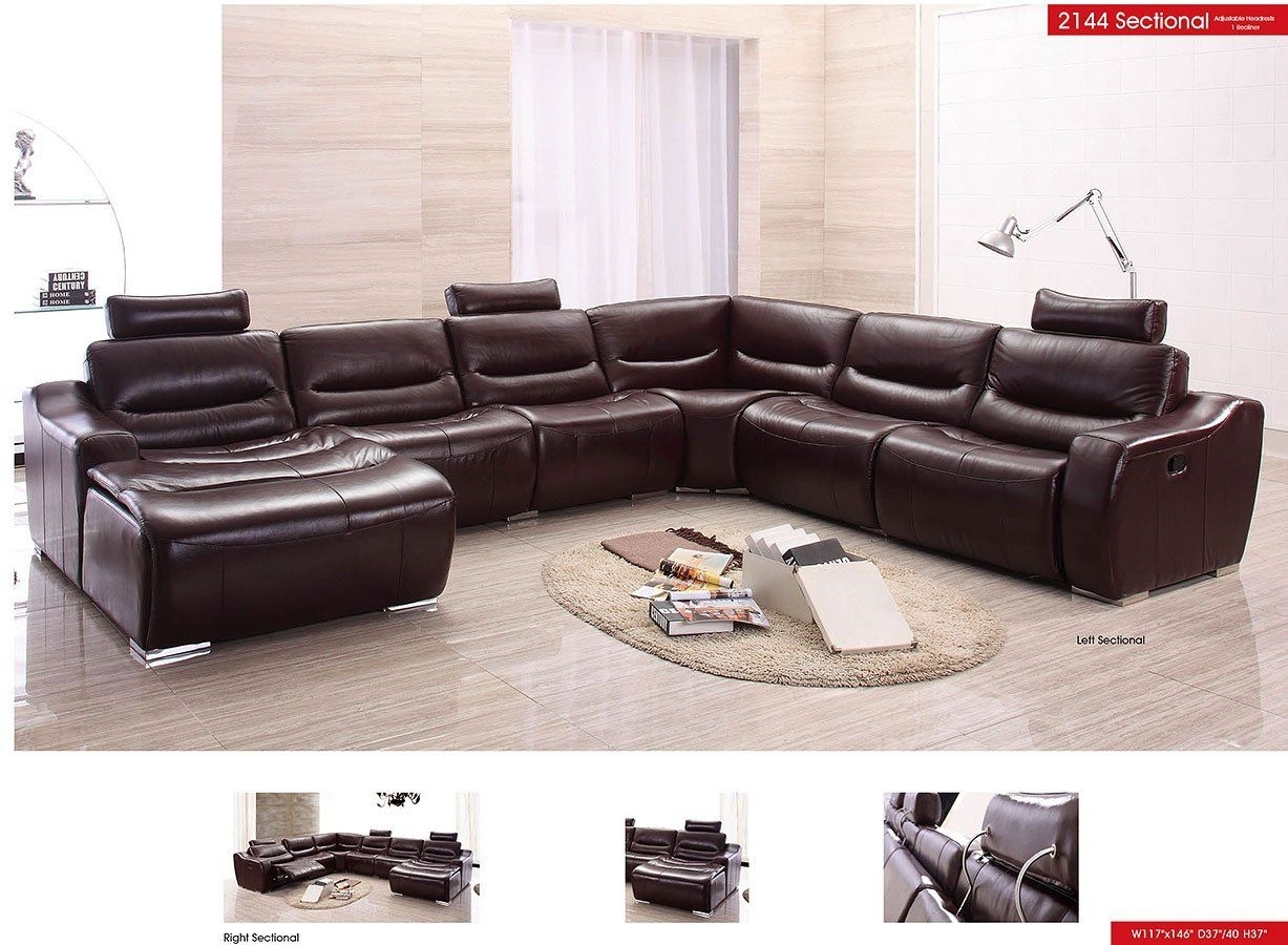 American Eagle Furniture Ek-Lb309-Dc Dark Chocolate Sofa C inside Tenny Dark Grey 2 Piece Left Facing Chaise Sectionals With 2 Headrest (Image 5 of 30)