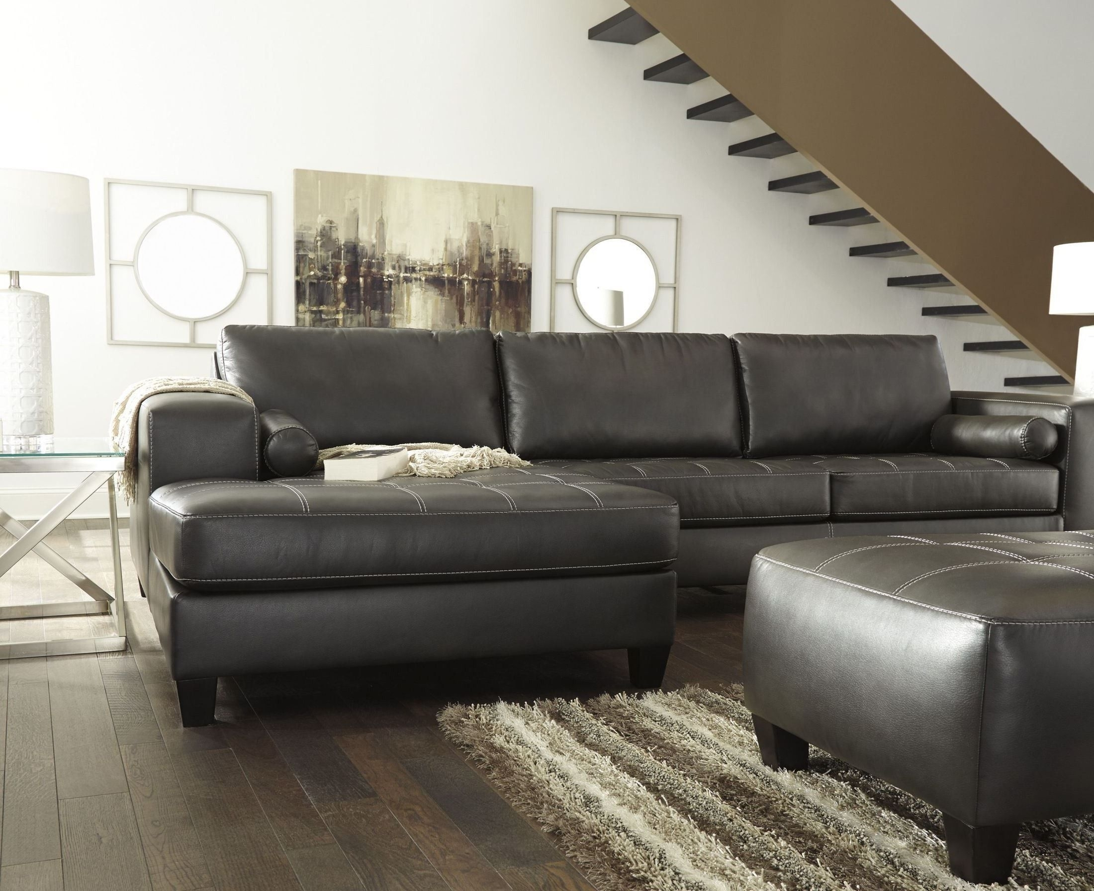 American Eagle Furniture Ek-Lb309-Dc Dark Chocolate Sofa C within Tenny Dark Grey 2 Piece Right Facing Chaise Sectionals With 2 Headrest (Image 6 of 30)