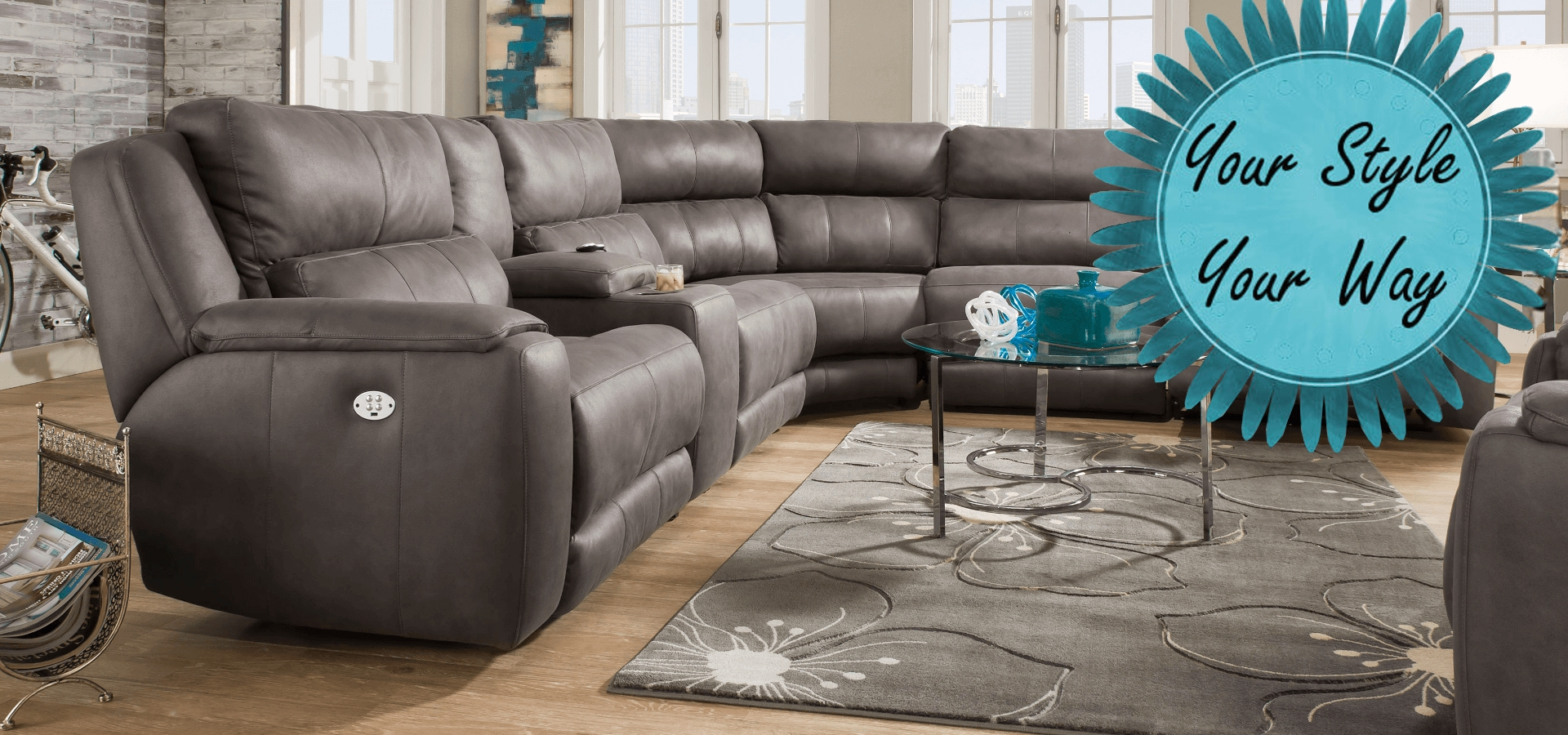 American-Made Motion Furniture & Reclining Living Room Sets pertaining to Travis Cognac Leather 6 Piece Power Reclining Sectionals With Power Headrest & Usb (Image 4 of 30)