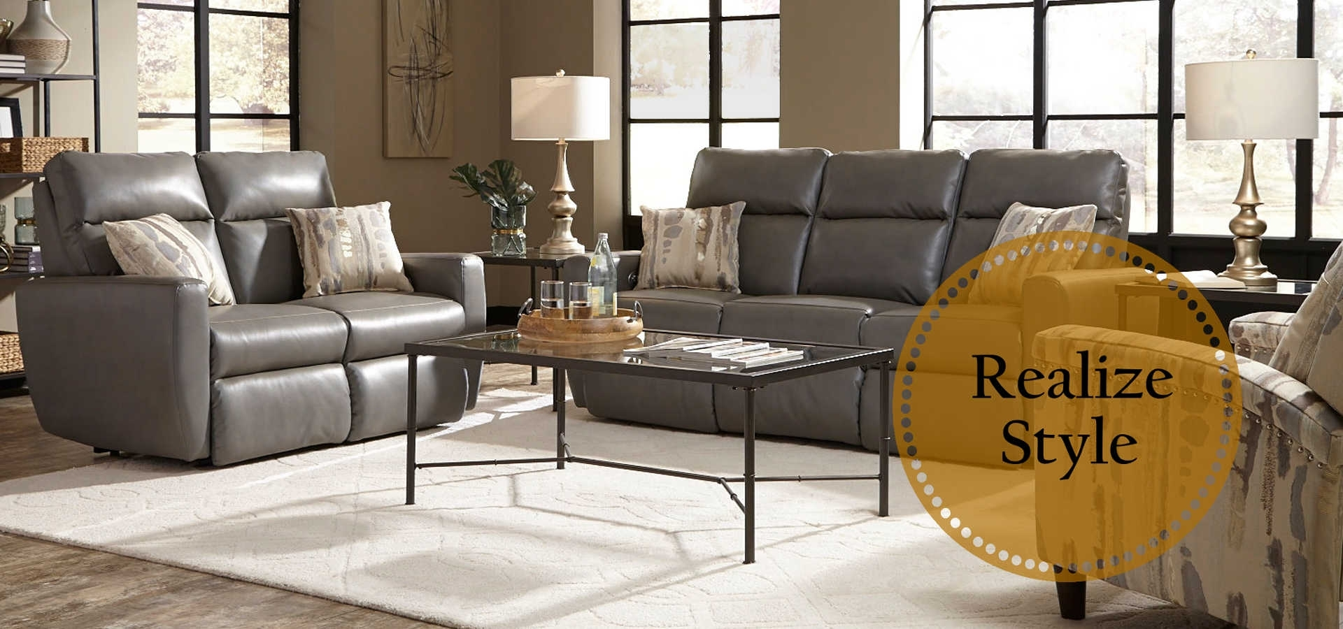 American-Made Motion Furniture & Reclining Living Room Sets regarding Travis Cognac Leather 6 Piece Power Reclining Sectionals With Power Headrest & Usb (Image 5 of 30)