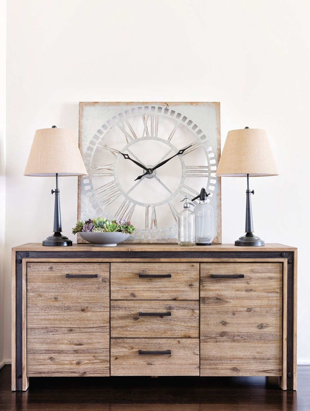 Amos Buffet, Grey | Acacia, Buffet And Industrial with Teagan Sideboards (Image 5 of 30)