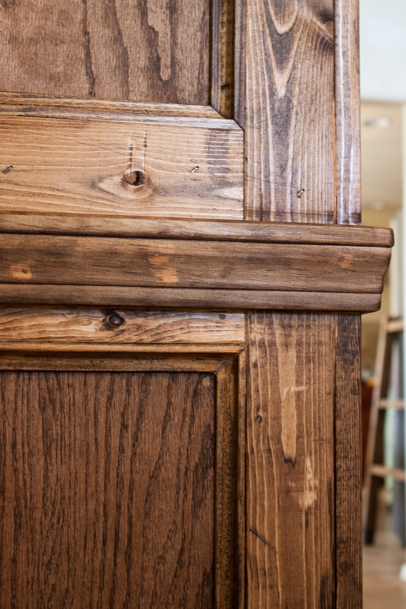 Ana White | Finished My Shanty Hutch And Sideboard - Diy Projects regarding Walnut Finish Crown Moulding Sideboards (Image 5 of 30)