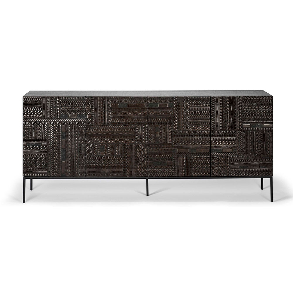 Ancestors Tabwa Sideboard – 4 Doors – Rouse Home intended for Carved 4 Door Metal Frame Sideboards (Image 9 of 30)