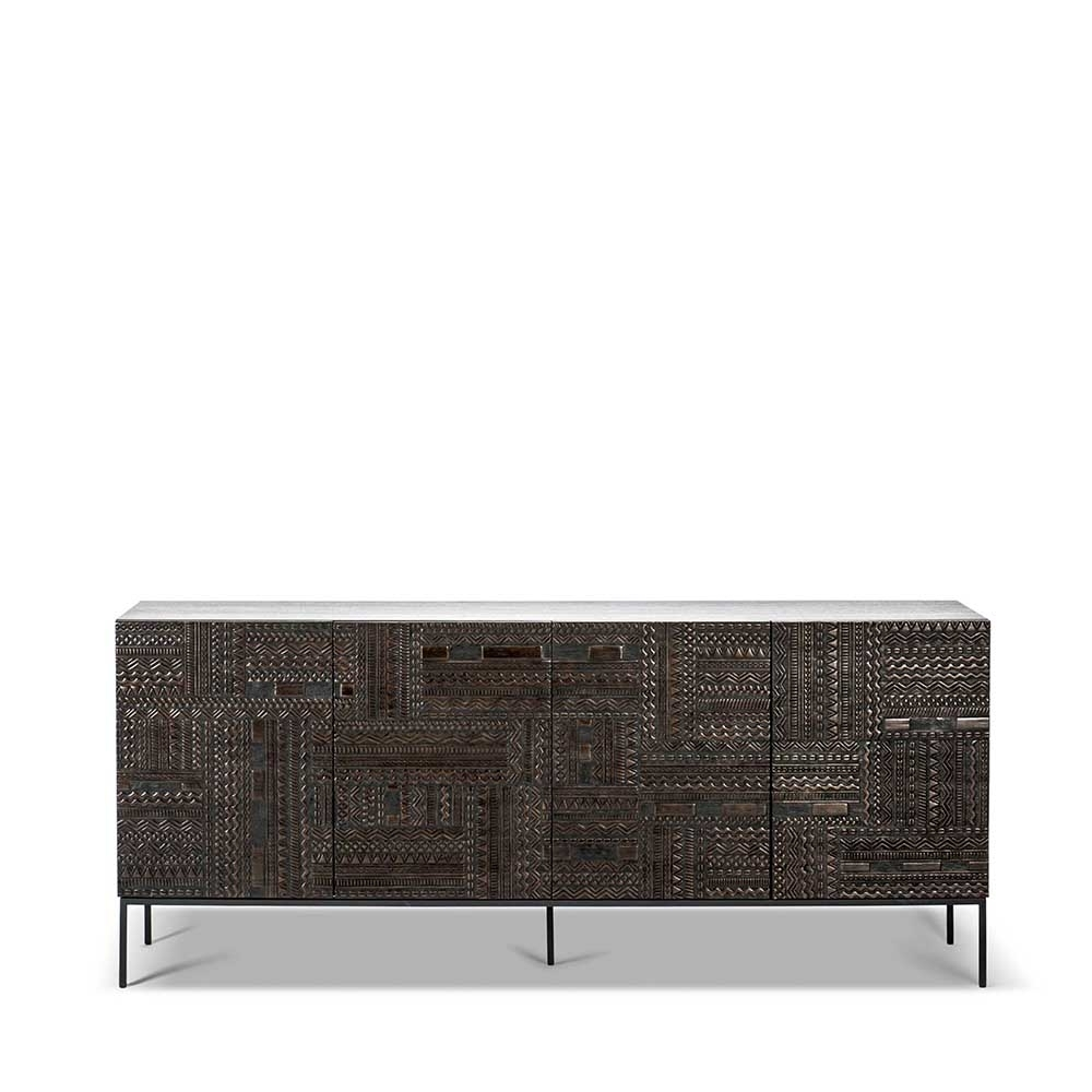 Ancestors Tabwa Sideboard – Ethnicraft For Carved 4 Door Metal Frame Sideboards (View 1 of 30)