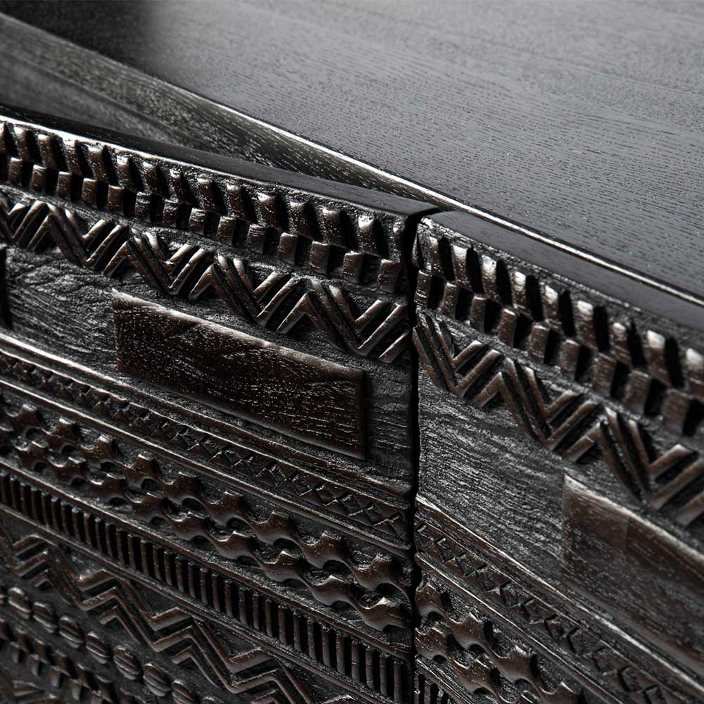 Ancestors Tabwa Sideboard High - Ethnicraft throughout Carved 4 Door Metal Frame Sideboards (Image 6 of 30)