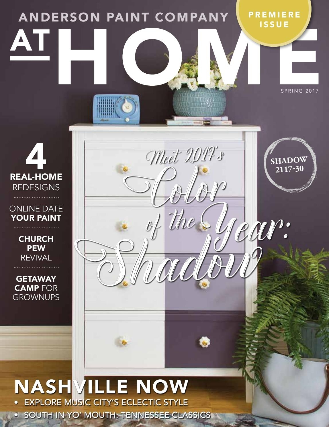 Anderson Paint Company At Home Spring 2017At Home Magazine - Issuu with Burnt Tannin 4 Door Sideboards (Image 7 of 30)