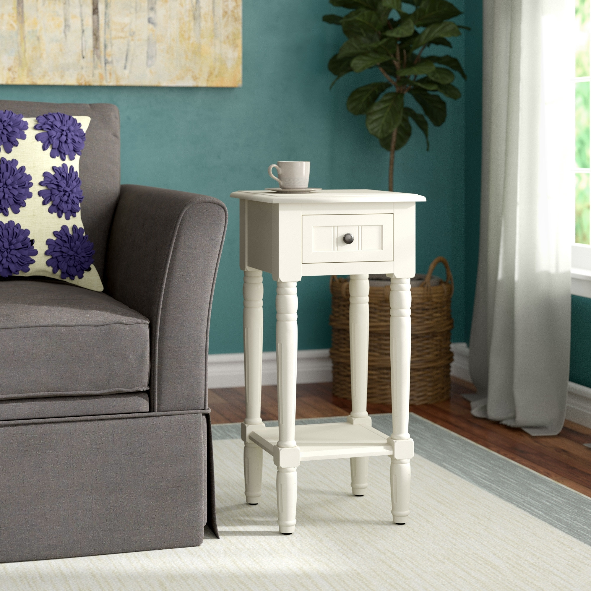 Andover Mills Adeline End Table & Reviews | Wayfair inside Adeline 3 Piece Sectionals (Image 7 of 30)