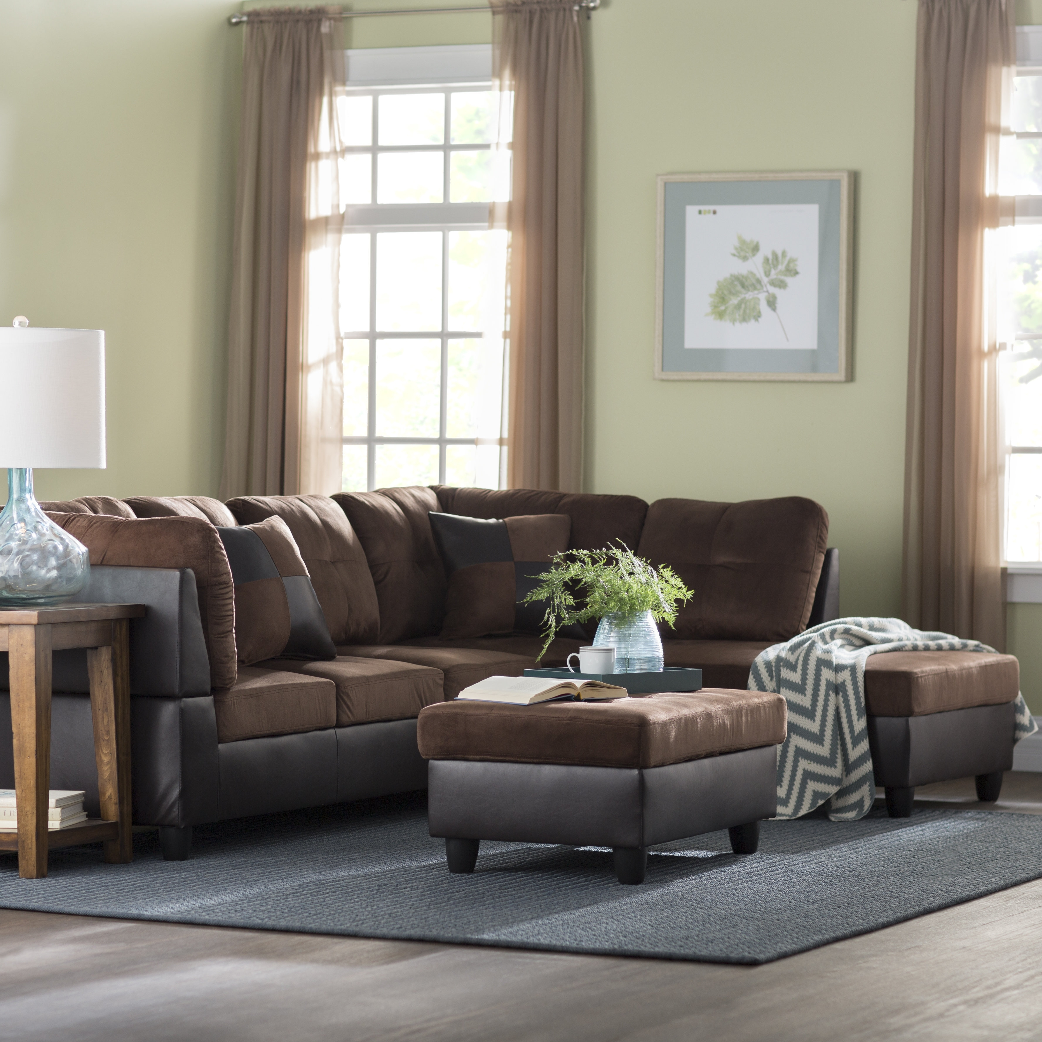 Andover Mills Russ Sectional With Ottoman & Reviews | Wayfair regarding Blaine 3 Piece Sectionals (Image 2 of 30)
