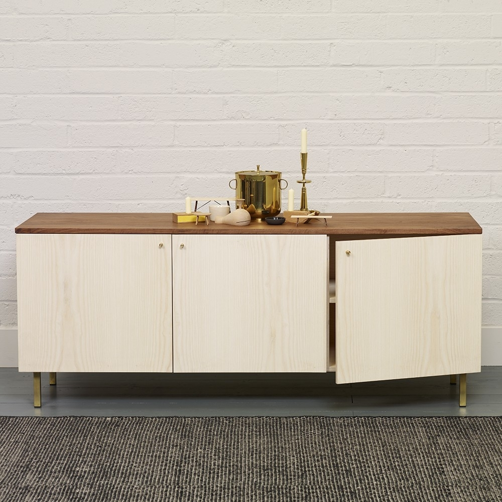 Another Country Sideboard Two | Chiara Colombini with Oil Pale Finish 3-Door Sideboards (Image 9 of 30)