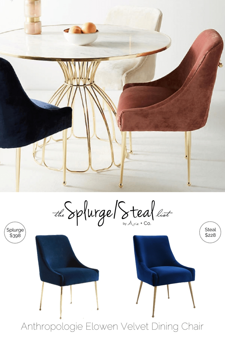 Anthropologie Elowen Velvet Chair | Creating A Haven | Pinterest within Whitley 3 Piece Sectionals By Nate Berkus And Jeremiah Brent (Image 3 of 32)