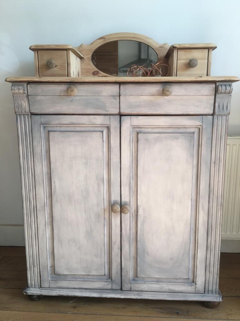 Antique Chiffonier Washstand Solid Pine Dresser Sideboard Chest Of in Natural South Pine Sideboards (Image 1 of 30)