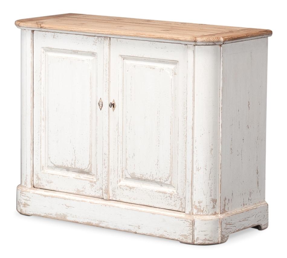 Antique White Wash Sideboard, 2 Door , Sarreid Ltd Portal ! | Your throughout White Wash 2-Door Sideboards (Image 4 of 30)