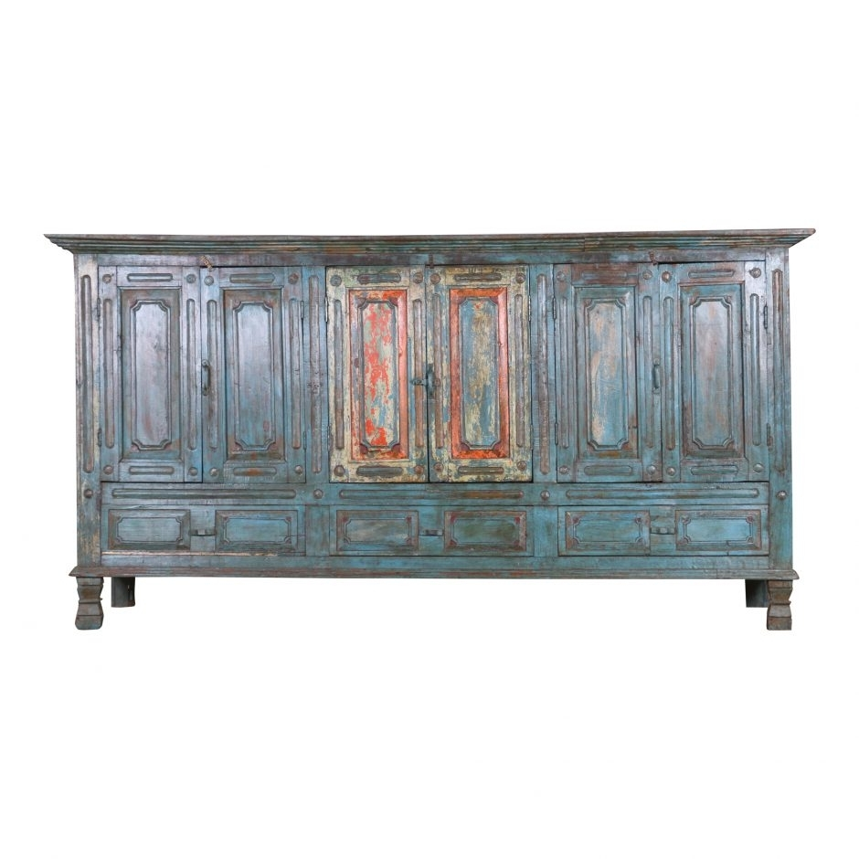 Antique Wood Sideboard Ue38 | Products | Moe's Usa within Reclaimed Sideboards With Metal Panel (Image 2 of 30)