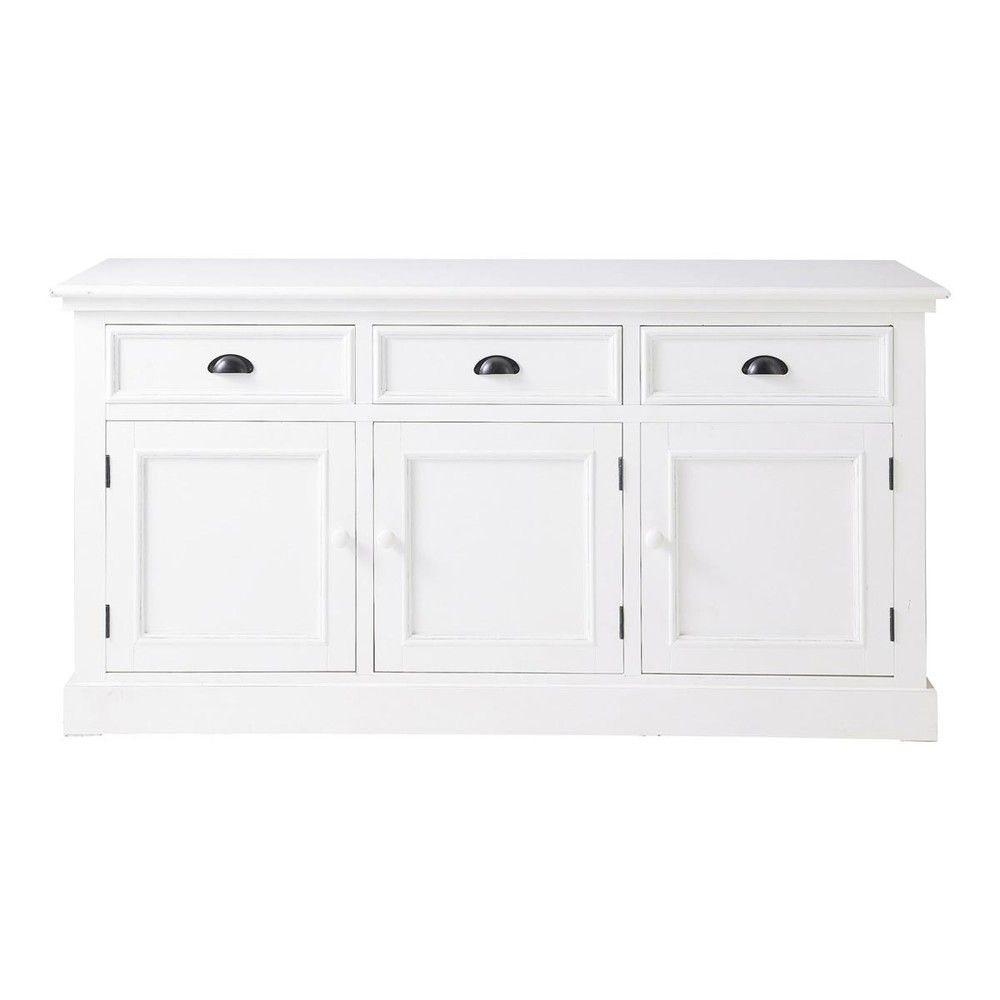 Aparador 3 Puertas Y 3 Cajones Blanco In 2018 | Hall | Pinterest regarding Hartigan 2-Door Sideboards (Image 6 of 30)