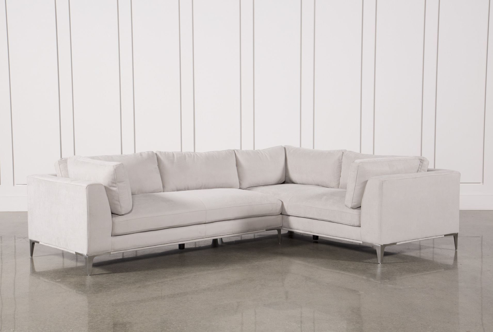 Apollo Light Grey 2 Piece Sectional | Living Space | Pinterest inside Cohen Down 2 Piece Sectionals (Image 1 of 30)