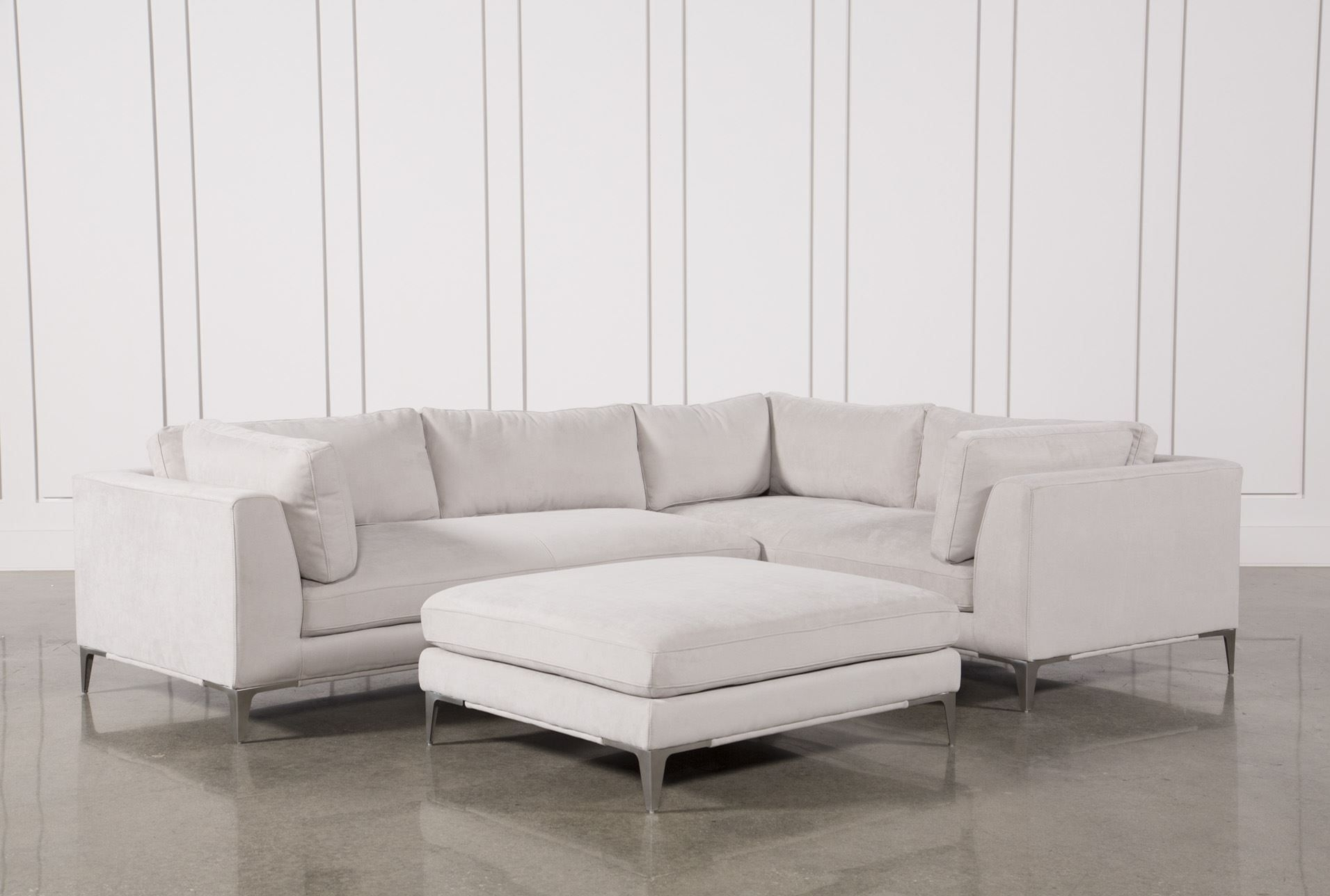 Apollo Light Grey 2 Piece Sectional W/ottoman | Pinterest | Ottomans regarding Aidan 4 Piece Sectionals (Image 9 of 30)