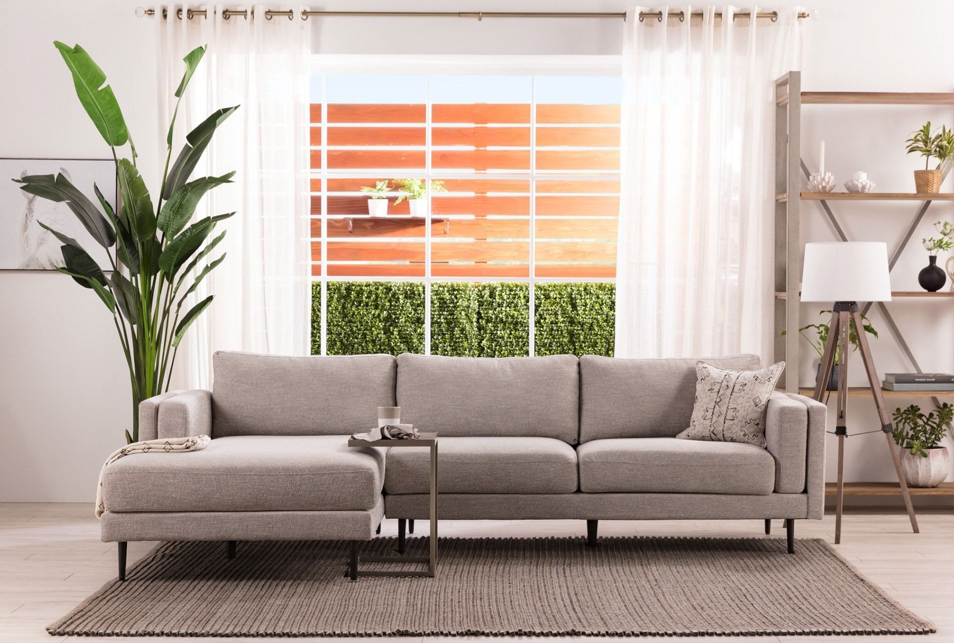 Aquarius Light Grey 2 Piece Sectional W/laf Chaise | Home with regard to Aquarius Light Grey 2 Piece Sectionals With Raf Chaise (Image 8 of 30)