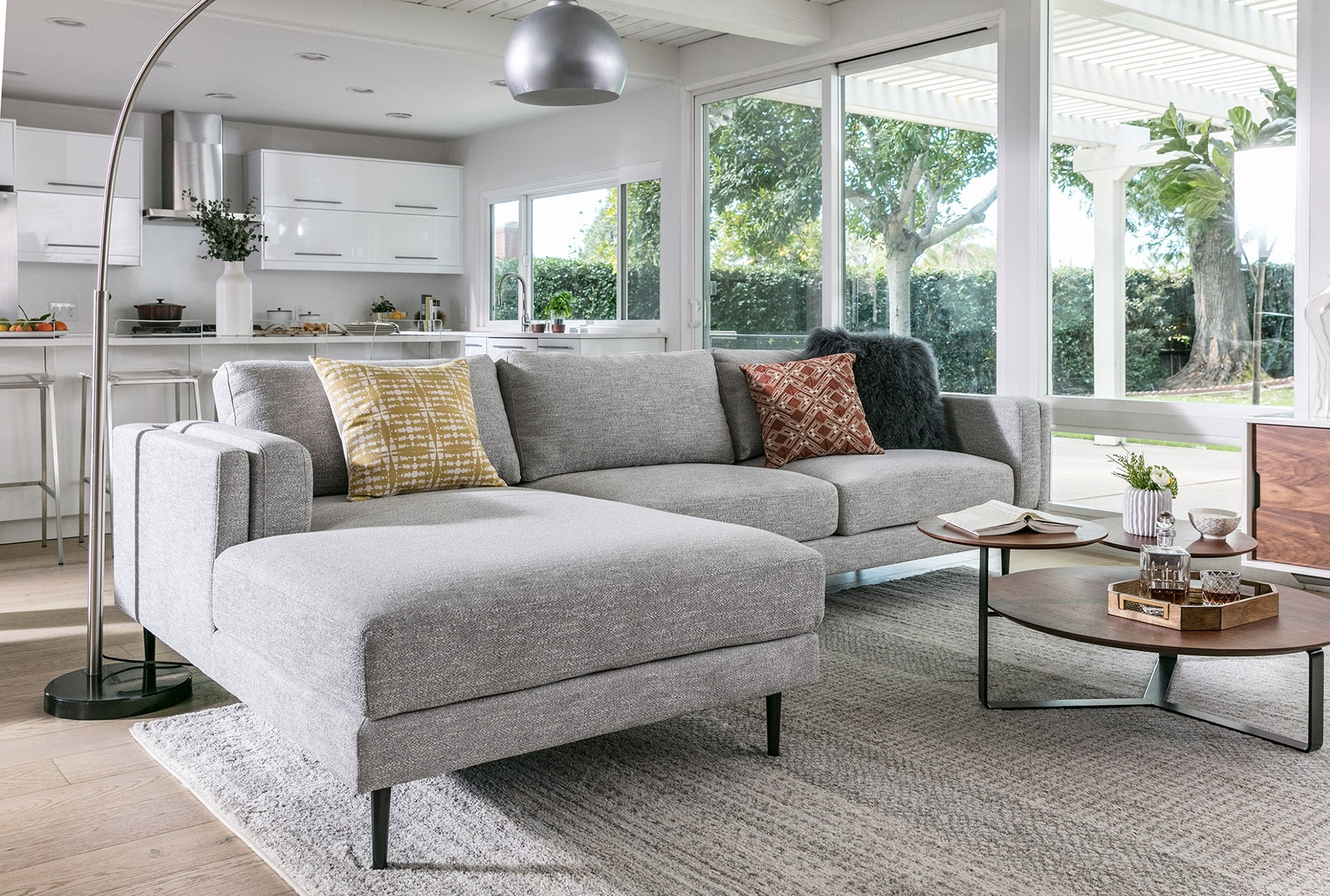 Aquarius Light Grey 2 Piece Sectional W/laf Chaise | Products intended for Aquarius Light Grey 2 Piece Sectionals With Laf Chaise (Image 8 of 30)