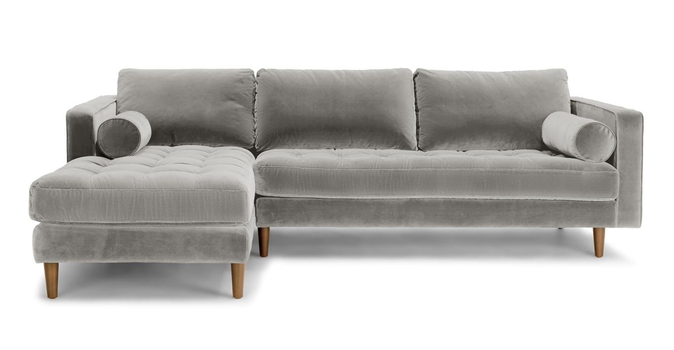Aquarius Light Grey Piece Sectional Wraf Chaise Living Spaces Color in Aquarius Light Grey 2 Piece Sectionals With Laf Chaise (Image 9 of 30)