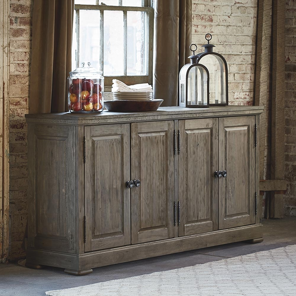 Artisan Dining 4 Door Huntboard | Bassett Home Furnishings intended for Vintage Finish 4-Door Sideboards (Image 2 of 30)