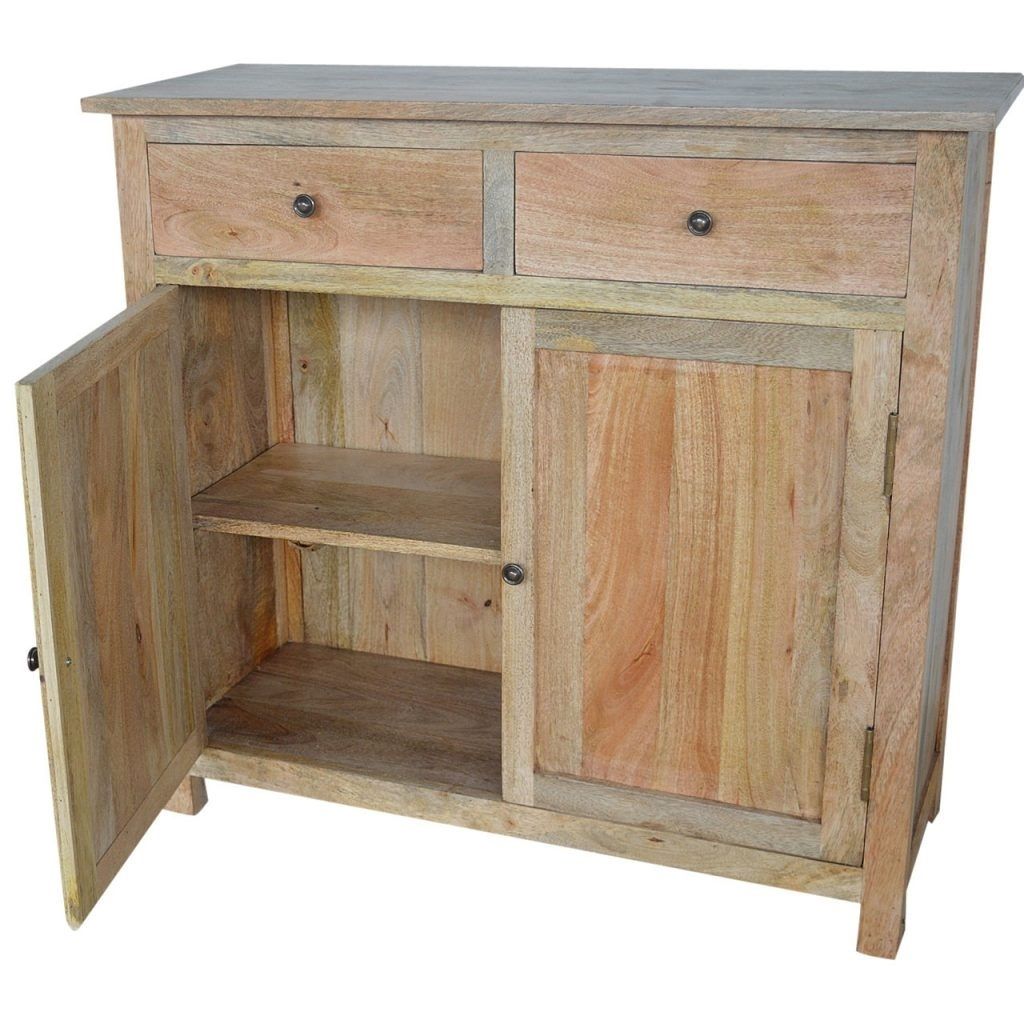 Artisan - Solid Mango Wood 2 Drawer 2 Door Sideboard - Mango Wood regarding Mango Wood 2-Door/2-Drawer Sideboards (Image 3 of 30)