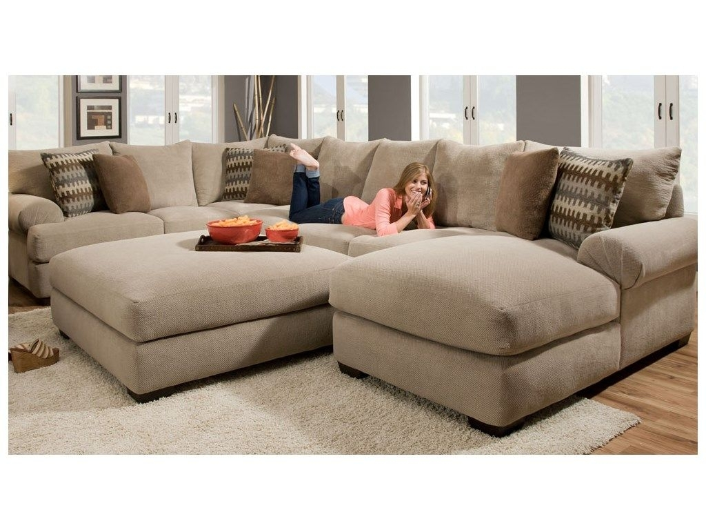 Artwork Piece Sectional Sofa With Chaise Design Furniture Couch inside Delano 2 Piece Sectionals With Laf Oversized Chaise (Image 4 of 30)