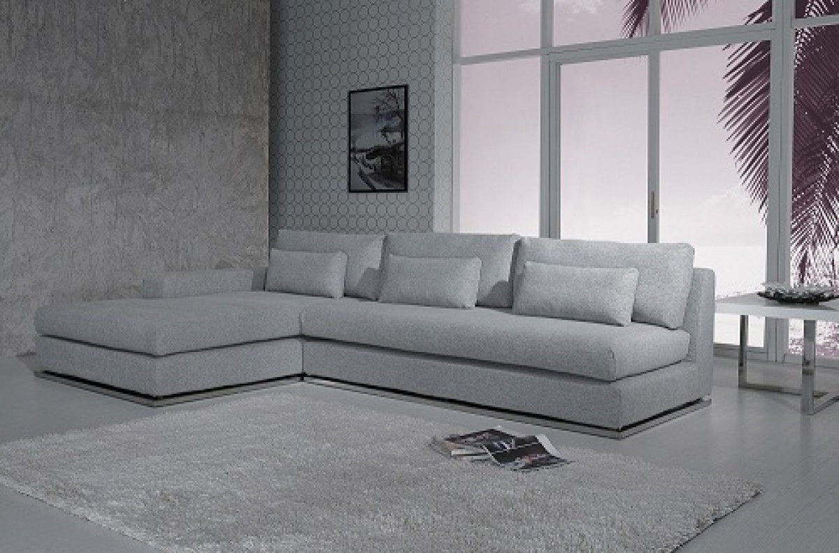 Ash Modern Fabric Sectional Sofa | Townhouse/condo Decorating inside London Optical Reversible Sofa Chaise Sectionals (Image 2 of 30)