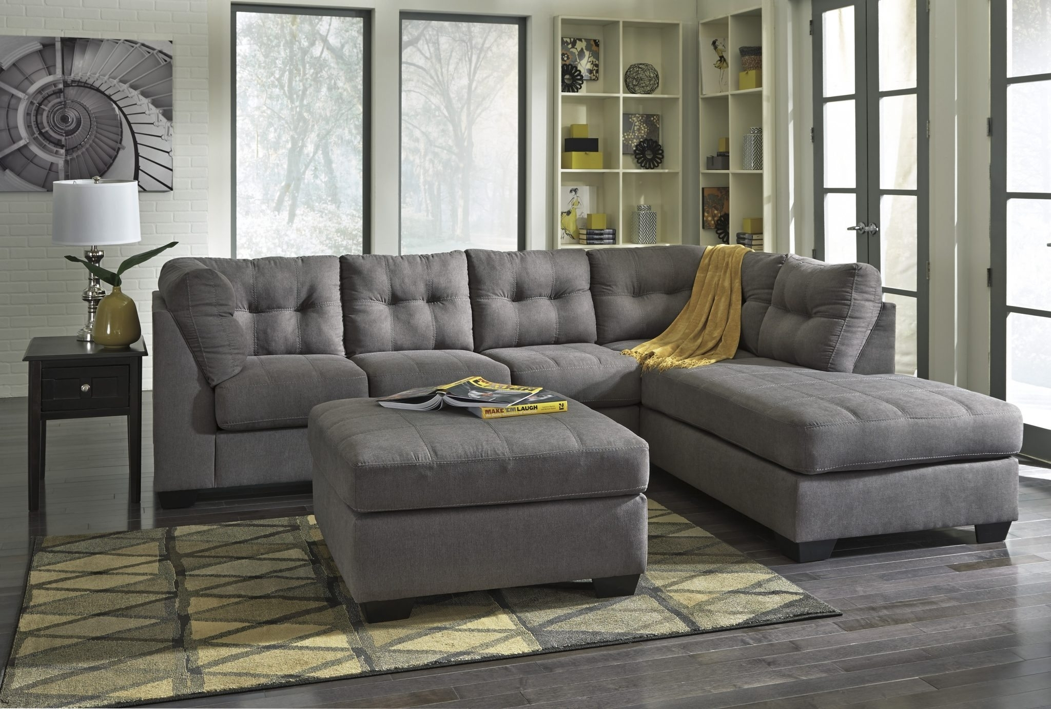 Ashley 452 Maier Sectional | Best Furniture Mentor Oh: Furniture for Meyer 3 Piece Sectionals With Laf Chaise (Image 2 of 30)