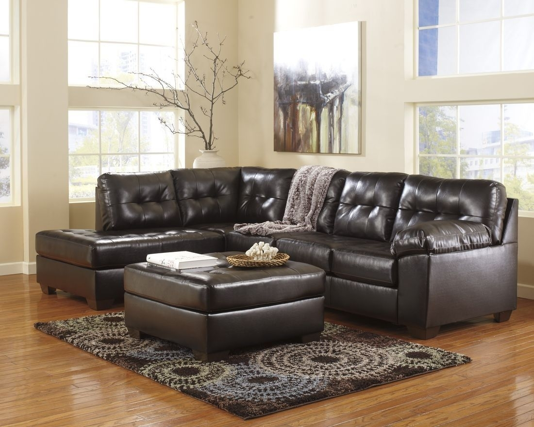 Ashley Furniture Alliston Sectional In Chocolate | Home Decor inside Norfolk Chocolate 3 Piece Sectionals With Raf Chaise (Image 1 of 30)
