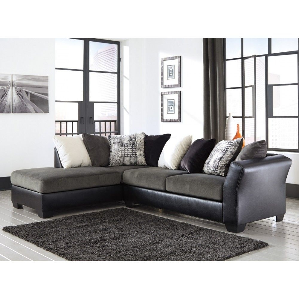 Ashley Furniture Armant Sectional In Ebony | Space Saving Sectionals in Turdur 2 Piece Sectionals With Laf Loveseat (Image 2 of 30)