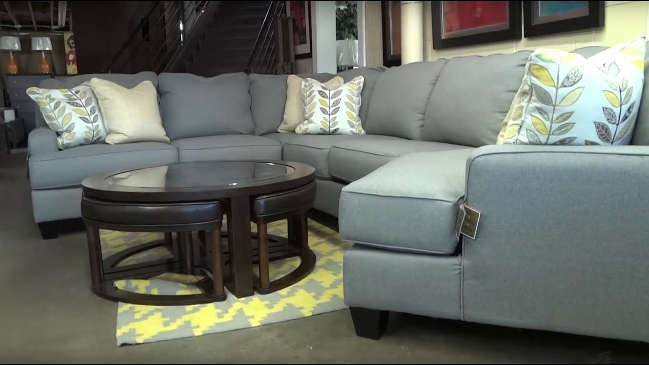 Ashley Furniture Chamberly Alloy Sectional 243 Review - Youtube within Mcdade Graphite 2 Piece Sectionals With Laf Chaise (Image 2 of 30)