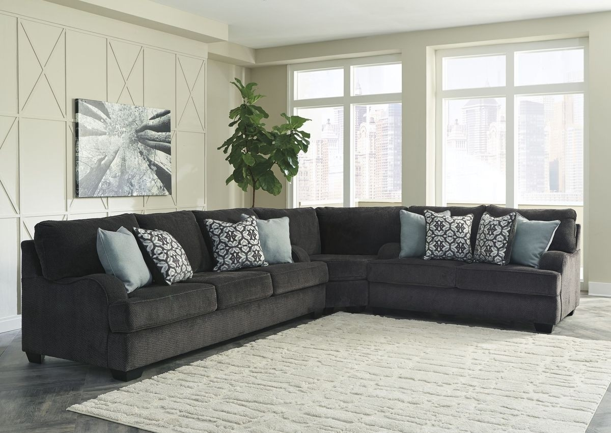 Ashley Furniture Charenton 3 Piece Sectional In Charcoal | Local inside Sierra Foam Ii 3 Piece Sectionals (Image 2 of 30)