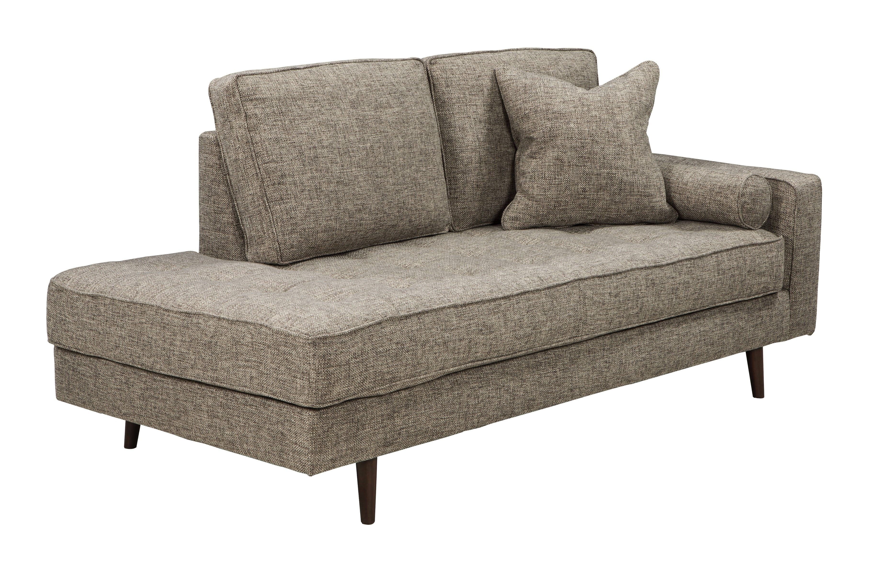 Ashley Furniture Chento Jute Raf Corner Chaise | The Classy Home in Lucy Dark Grey 2 Piece Sleeper Sectionals With Raf Chaise (Image 4 of 30)