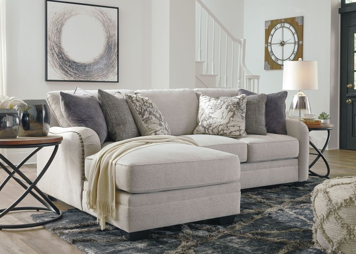 Ashley Furniture Dellara 2 Piece Sectional In Chalk | Local inside Sierra Foam Ii 3 Piece Sectionals (Image 3 of 30)