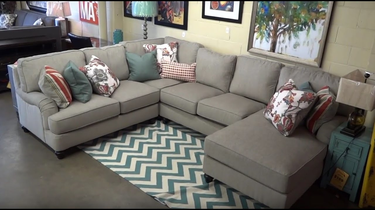 Ashley Furniture Kerridon Putty Sectional 263 Review - Youtube within Kerri 2 Piece Sectionals With Laf Chaise (Image 4 of 30)