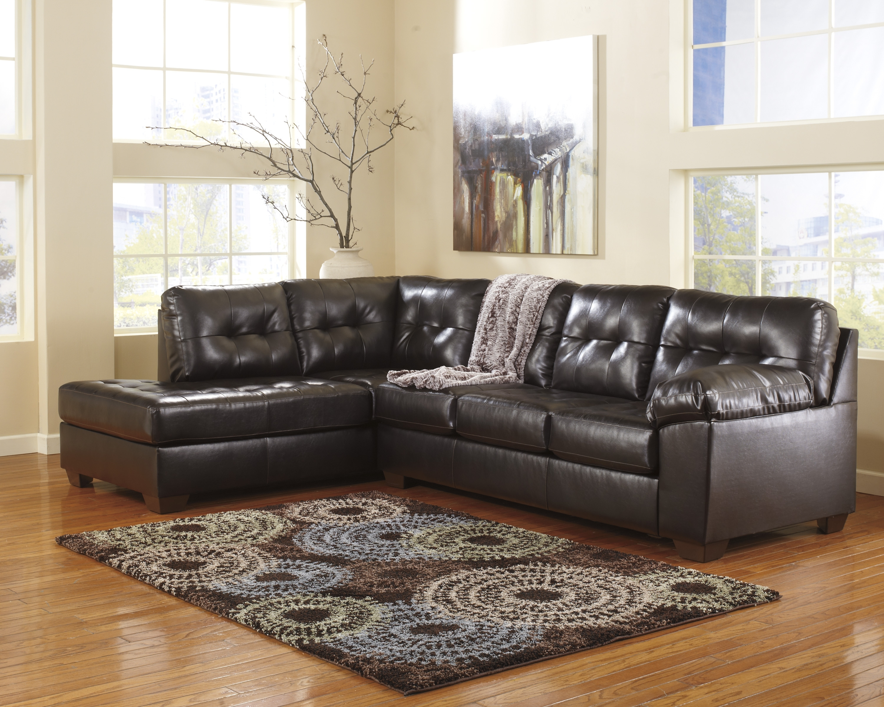 Ashley Furniture Leather Sectionals, Ashley Furniture Sofa Sleepers with regard to Tess 2 Piece Power Reclining Sectionals With Laf Chaise (Image 2 of 30)