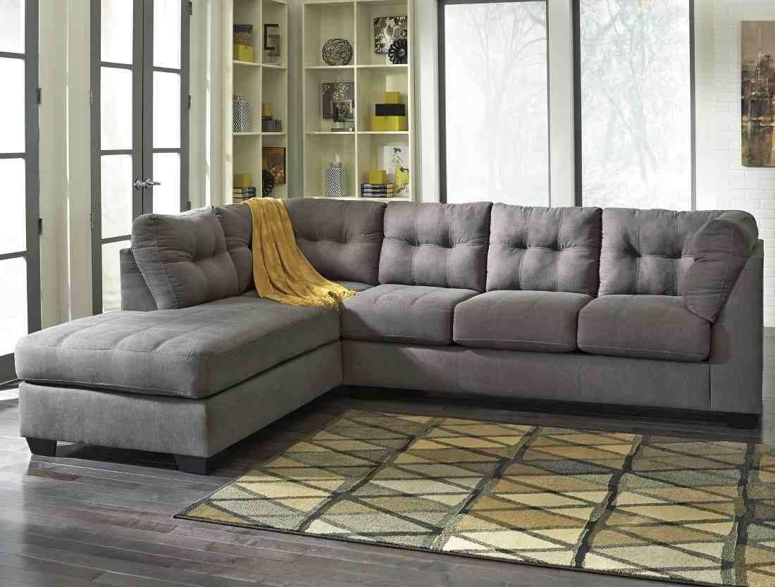 Ashley Furniture Maier 2 Piece Sectional In Charcoal With Laf Chaise for Aspen 2 Piece Sleeper Sectionals With Laf Chaise (Image 2 of 30)