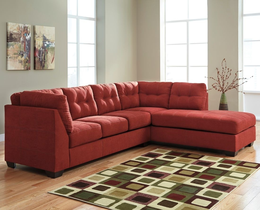 Ashley Furniture Maier 2 Piece Sectional In Sienna With Raf Chaise intended for Aspen 2 Piece Sleeper Sectionals With Raf Chaise (Image 6 of 30)