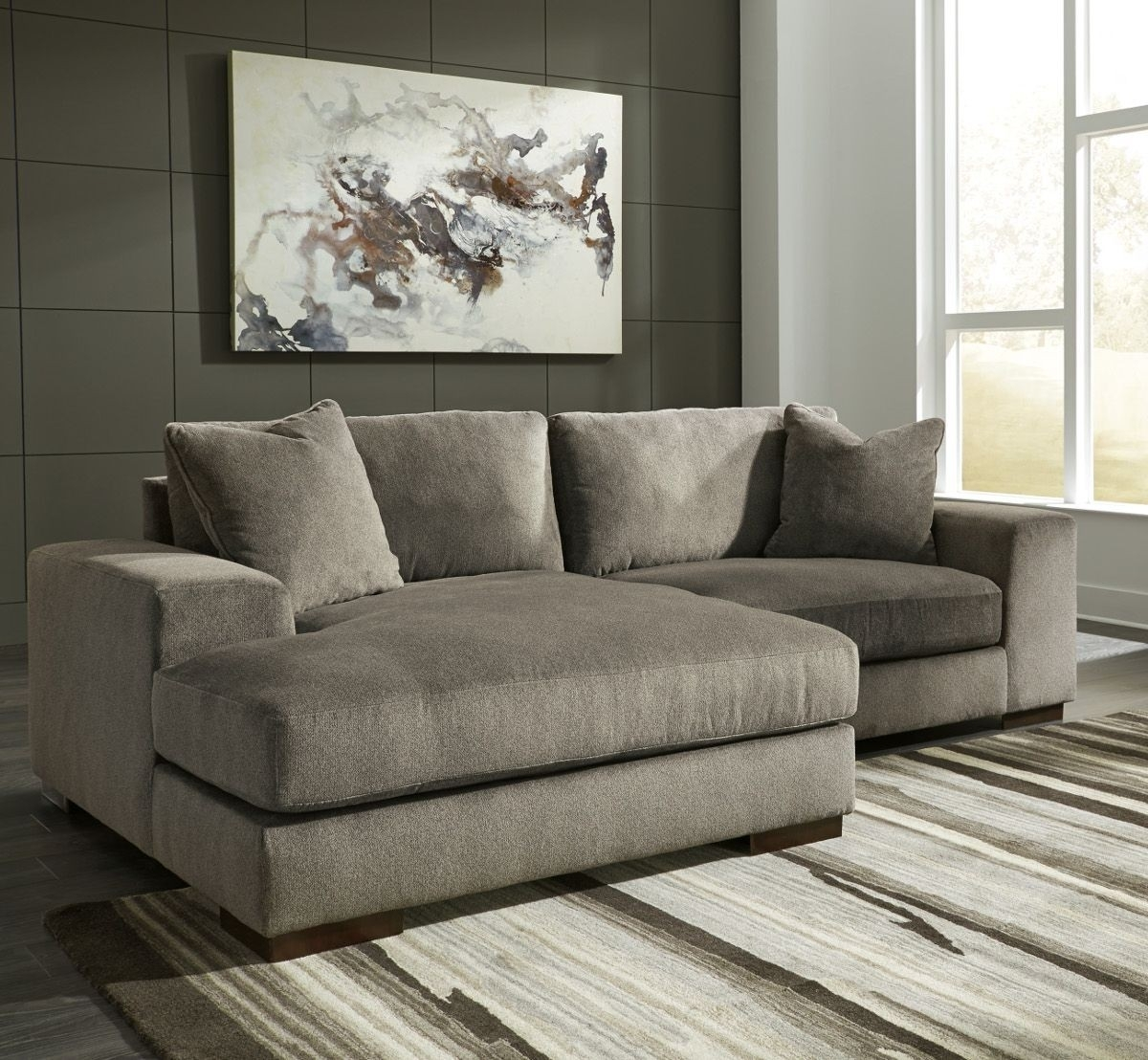 Ashley Furniture Manzani 2 Piece Sectional With Laf Chaise In throughout Aspen 2 Piece Sectionals With Laf Chaise (Image 5 of 30)