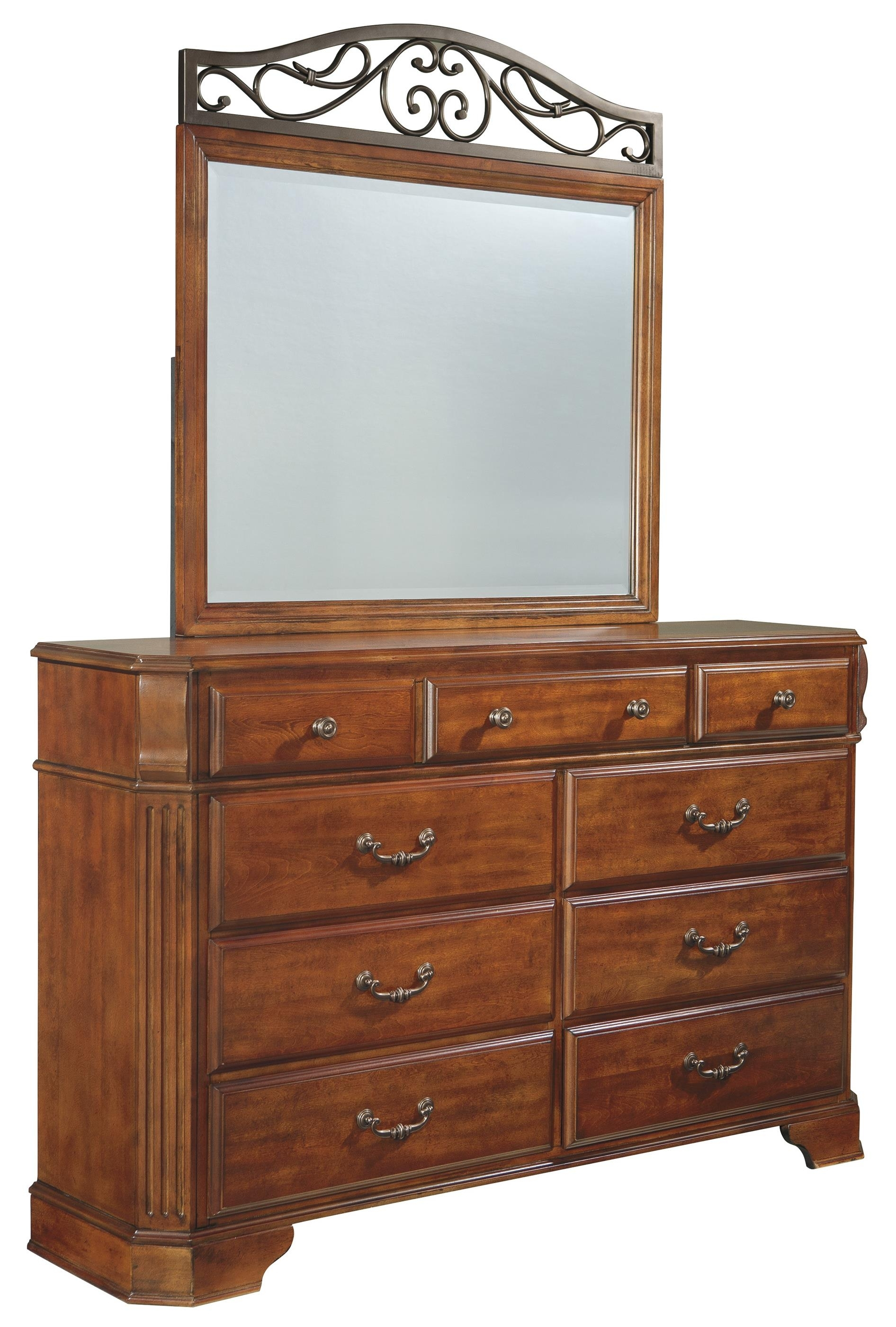 Ashley Signature Design Wyatt Nine Drawer Dresser And Picture Frame In Wyatt Sideboards (Photo 7 of 30)